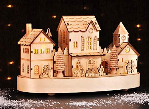 Beleuchtete Weihnachtsstadt ca. 28 cm Deko für Weihnachten LED Beleuchtung