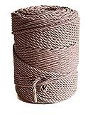 Baumwollkordel 4mm Macrame garn 145 m Macrame Rope Makrameegarn Makramee Baumwollgarn