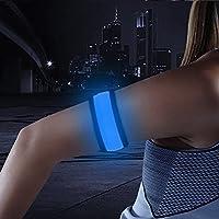 Super bright LED bofetada brazalete Running–mayor visibilidad y seguridad correr–incluye pilas, azul