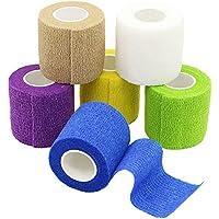 YuMai Haftbandage Selbsthaftende Bandage Erste Hilfe Klebeband Wrap 5 cm × 4,5 m Mehrfarben FDA genehmigt – 6... preisvergleich bei billige-tabletten.eu