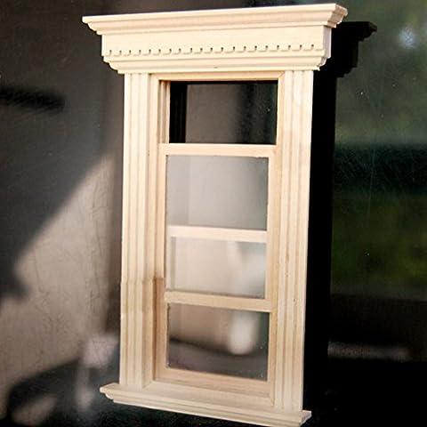 Oshide 1/12 Dollhouse Miniature fenêtre coulissante Creative Décoration bricolage Dollhouse Decoration