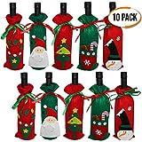 The Twiddlers Confezione da 10 copribottiglie di Vino - Decorazioni Borsa 5 Diversi Disegni - Perfetta Decorazione Natalizia per Bottiglie - Ideale per Le Cucina Feste di Natale
