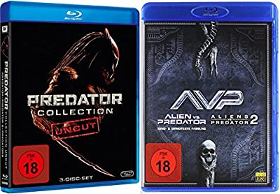 PREDATOR Mega Collection Teil 1 2 3 + Alien vs. Predator 1 & 2 UNCUT 5 Blu-ray Collection