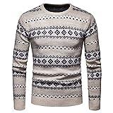 Männer Langarm Pullover Mann Weihnachten Outwear Mode Herbst Winter Pullover Gestrickte Top Gestreifte Pullover Bluse Outwear Moonuy