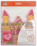 Teo & Zina KC03Set 6Einladungskarten Geburtstag Prinzessin Papier Mehrfarbig 15x 15x 0,1cm