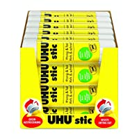 UHU Stic Glue Stick Solid Washable Non-toxic 8.2g Ref 45187 [Pack of 24]