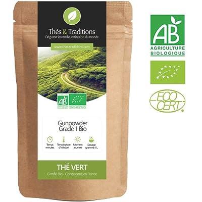 Thé vert Gunpowder Grade 1 BIO | Sachet 100g vrac | ? Certifié Agriculture biologique ?