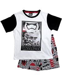Star Wars Pyjama Kollektion 2017 Shortie 104 110 116 122 128 134 140 146 Shorty Kurz Schlafanzug Stormtrooper Weiß-Grau