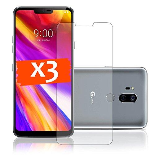 LetiStore Schutzfolie Für LG G7 ThinQ Folie Bildschirm Schutz - 3X Klare Handy Bildschirmfolie - Folie Ultra Transparent