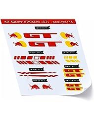 GT_Kit 3 - Juego de adhesivos para bicicleta, 12 unidades, diferentes colores, código 0430, amarillo rojo