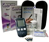 Codefree Blood Glucose Monitor/Monitoring Test/Testing Kit+Strips+Lancets+Case - in mmol/L