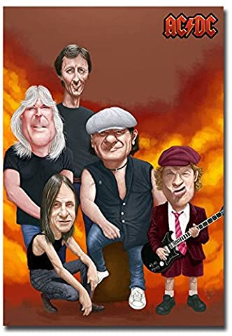 AC/DC Rock Band Cartoon # 2 PHOTO FRIDGE MAGNET