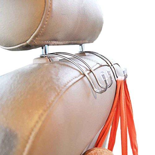 Zhiyi Autositz Organizer Auto Sitzkopflehnen Haken Aufhänger (2 x Auto-Innenhaken) (Haken Garment Bag)