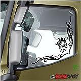Tribal Set Seitenscheibe mit Scania Greiff Adler 30x30 cm Truck Trucker Aufkleber Anhänger Sticker `+ Bonus Testaufkleber