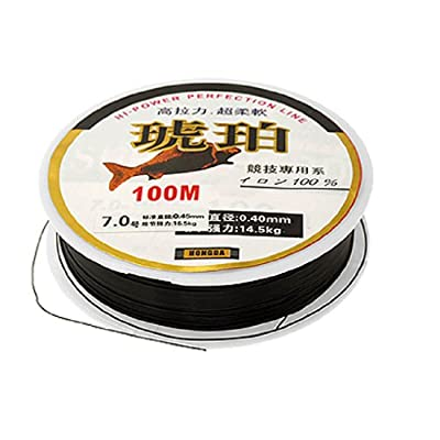 0.45mm Black Monofilament Cable Spool 100m Fishing Line from SODIAL(R)