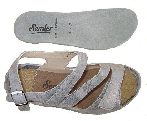 Semler H2095-031-028 Heidi Damen Sandale Weite H auch für lose Einlagen Panna