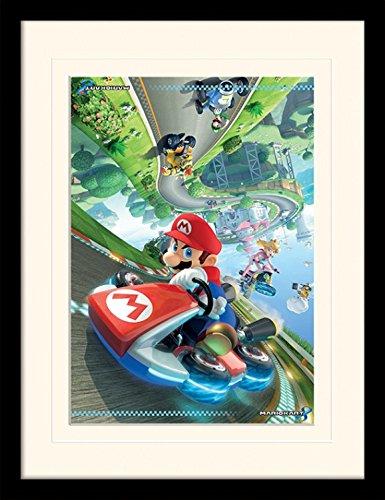 (1art1 102020 Super Mario - Mario Kart 8, Flip Gerahmtes Poster Für Fans Und Sammler 40 x 30 cm)