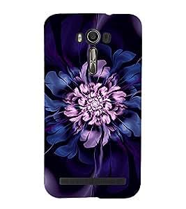 Purple Flower 3D Hard Polycarbonate Designer Back Case Cover for Asus Zenfone 2 Laser ZE500KL (5 INCHES)