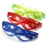 Blinkende LED Brille Spinnennetz Spinne Spider Party Karneval Man Leuchtbrille in Farben Auswahl