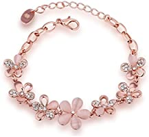 Shining Diva Fashion Charm Bracelet for Girls (Gold)(8306b)