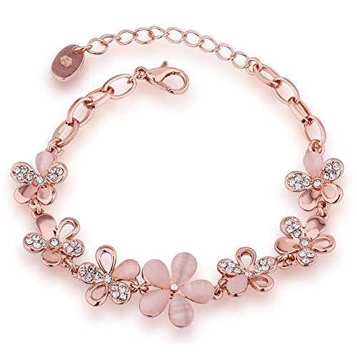 Shining-Diva-Fashion-Jewellery-Rose-Gold-Crystal-Charm-Bracelet-Gifts-for-Girls-and-Women