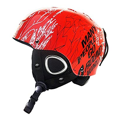 ZIONOR Lagopus Stylish Doddle Unisex Snow Sport, Ski, Skidding, Riding, Skateboarding Helmet with Adjustable Venting System, PC & EPS Material for Kid Youth Boys Girls from ZIONOR
