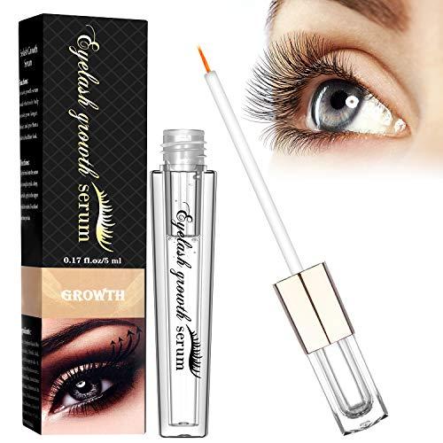 WONTECHMI Wimpernserum, Fördert das Wimpernwachstum, Wimpern Booster für lange, dichte Wimpern, Auch als Augenbrauenserum geeignet (5ml)