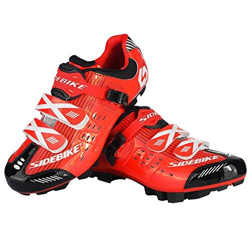 Uomo bicicletta ciclismo scarpe traspiranti e antiscivolo Rot