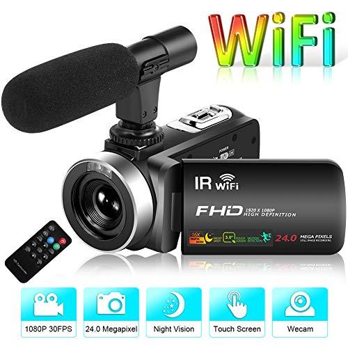 Videocamera Videocamere Full HD 1080P 30FPS 24.0 MP Videocamere Vlogging IR Visione notturna (V2D)