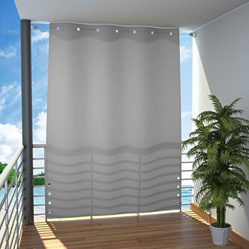 MW Handel Seitlicher Balkonsichtschutz Balkon Paravent Sichtschutz seitlich Trennwand Markise 140x230 cm