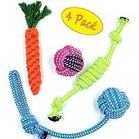 Hundespielzeug Kauspielzeug Interaktives Spielzeug Baumwollknoten Spielset für Hunde - 4 Teile
