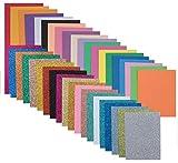 40-pack di misti 2mm glitter & normal EVA Foam Craft sheets-multicolore 20x a5-size glitter schiuma fogli e 20x fogli di formato A5Standard Foam-Art Supplies per scrapbooking decoupage