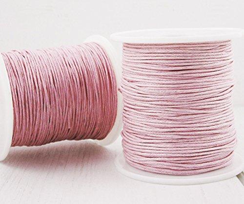 18,3 m 60ft 20yrd Rosa Gewachst Baumwollkordel Dekorativen Perlen Schnur Geflochtene Seil Verdreht Shamballa Armband Schnur 1mm .039in -