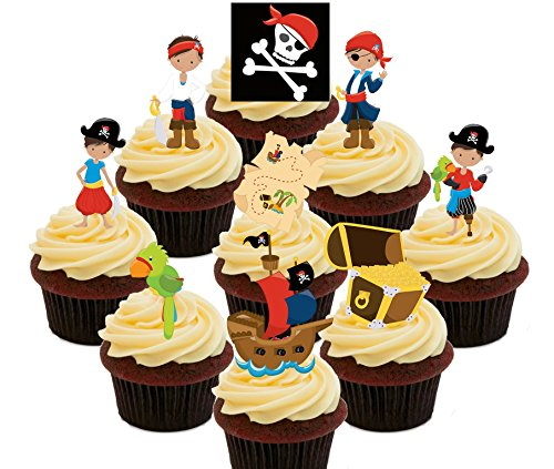 bunte Kids 'Essbare Kuchen Dekorationen – Stand-Up Wafer Cupcake Topper, Pack of 36 (Cupcake Fancy Dress Outfit)