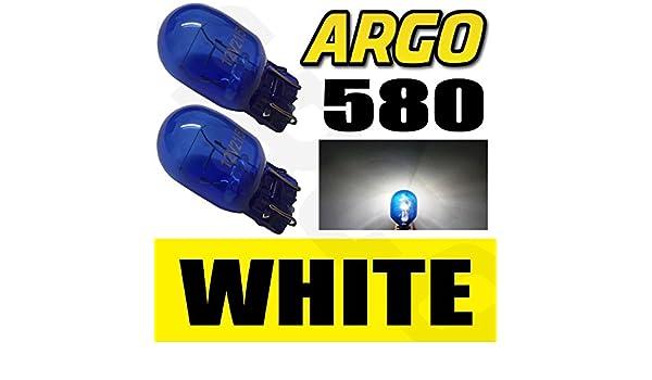 2x DRL W21//5W T20 580 7443 Sidelight Blue Glass Bulbs Dual Filament Xenon 5000k