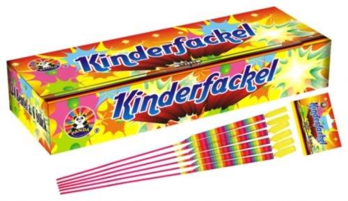 144 Stück KINDERFACKELN/Handfackel 30cm wechselnden Farben/Knistersternen