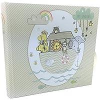 Baby-album fotografico, regalo per bebè, motivo arca di Noè, capacità 80 cm x 10,16 (6 15,24 cm (4