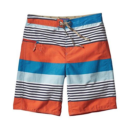 Patagonia–Pantaloncini da Uomo Printed Wavefarer Board, Uomo, Shorts Printed Wavefarer Board, Fitz Stripe: Catalyst Blue, 28