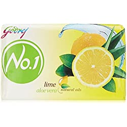 Godrej No.1 Soap, Lime and Aloe Vera, 150g (Buy 6 Get 2 Free)