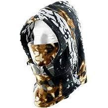 Forfar 1 PC Camo Pasamontañas Sombrero Polar Fleece Gorra Caza Motocicleta Ciclismo Ski Snow Outdoor Gear Headwear Calentador de cuello cálido