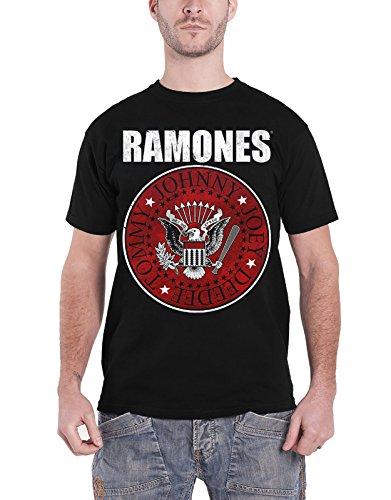 (Ramones T Shirt Presidential Seal Rot Fill Band Logo Nue offiziell Herren)