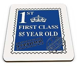 First Class 85 Jahre alt, mit Tasse, Untertasse, Blau