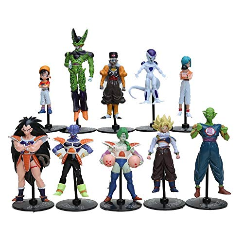 10 Teile/Satz Dragon Ball Z GT Action Figuren Verrückte Party Zelle/Freeza/Goku PVC Dragonball Figuren Spielzeug
