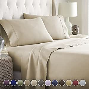 Hotel Luxury Bed Sheets Set-ON SALE TODAY! #1 Rated On Amazon-Top Quality Softest Bedding 1800 Series Platinum Collection-100% Money Back Guarantee!Deep Pocket,Wrinkle & Fade Resistant (Full,Taupe) by HC COLLECTION