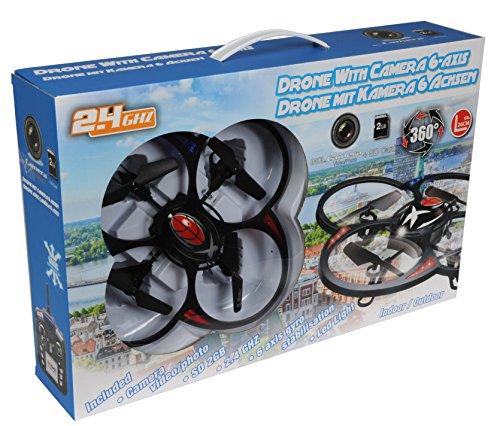 Eddy Toys Drone LED mit Kamera - 6 Achsen, Wifi Kanal 2.4 Ghz, Ø 26 cm