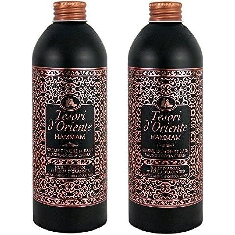 Tesori d'Oriente Hammam Gel / Crema de Ducha / Baño Calmante 500ml - Conjunto de 2
