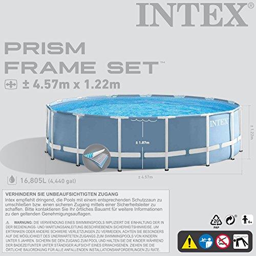 Premium-Pool 457×122 cm Schwimmbad Metallrahmen - 3