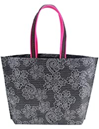 Women Lady Foldable Shopping Bag Non-weave Thick Handbag Casual New Portable Tote High-capacity