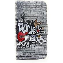 Cuitan Premium Qualità PU Pelle Flip Case Custodia per Samsung Galaxy J5 (2016), Carta Slot e Stand Funzione Cellulare Protettivo Caso Case Cassa Cover Custodia per Samsung Galaxy J5 (2016) - Musica