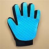 XYL pet supplies Fünf Finger Bad Handschuhe, Pet - Handschuhe, Katze, Handschuhe, Massage und Silikon - Pinsel,Hellblau